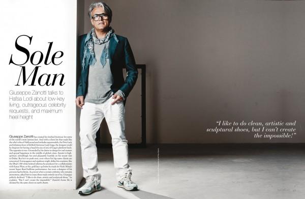 "Giuseppe Zanotti in ""Sole Man"". Photographed by Atif Abu-Samra for Velvet Magazine."