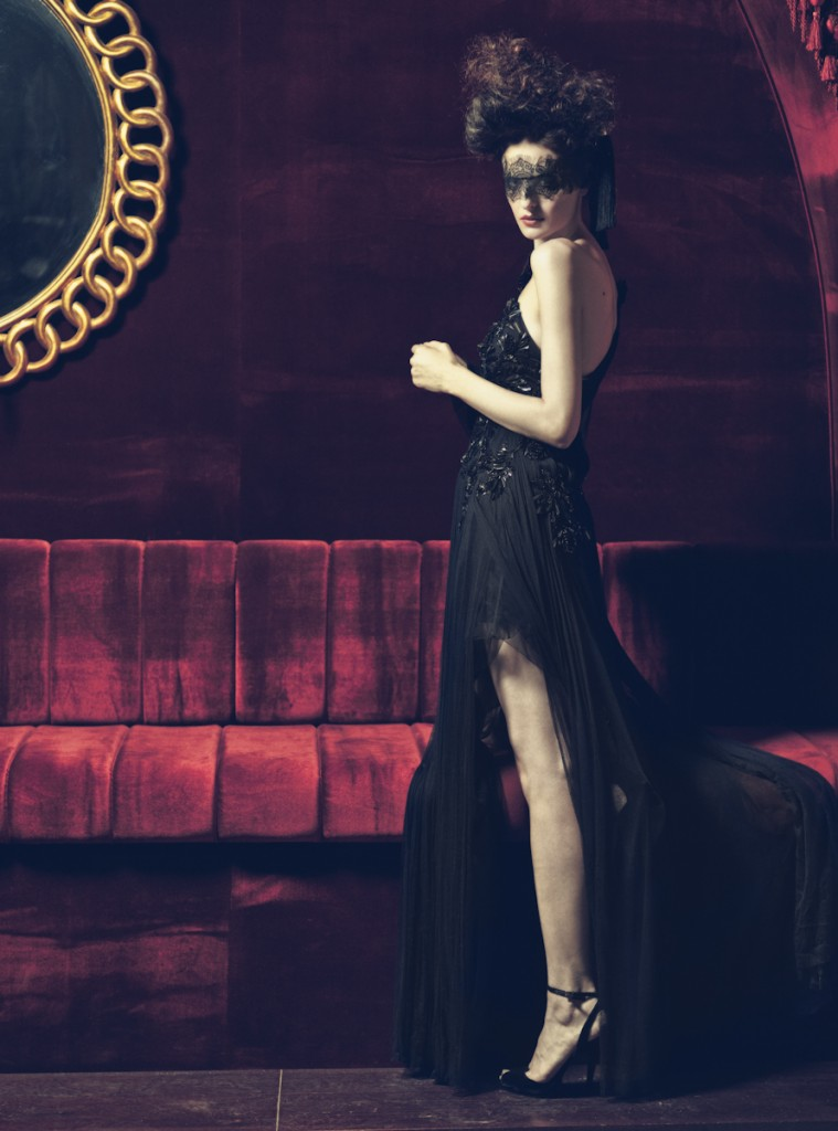"Milica Radmilovic Militza in ""After Dark"". Gucci Winter/Fall 2012. Fashion editorial, Velvet Magazine, Dubai."
