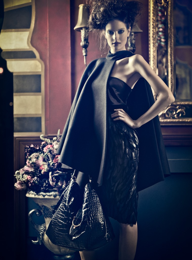 "Milica Radmilovic Militza in ""After Dark"". Gucci Winter/Fall 2012. Fashion photographer for Velvet Magazine, Dubai."