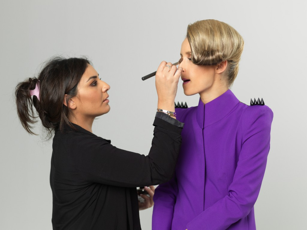 Behind scenes at Light House Studio on a MAC Cosmetics editorial shoot