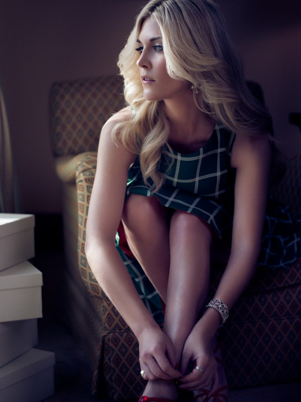 Tinsley Mortimer. Photographed by Atif Abu-Samra for Style.com Arabia in Ritz Carlton Residences, JBR, Dubai, UAE.