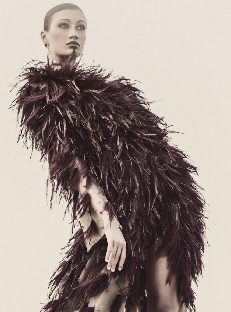 "Valeria Gaggiano in ""Italian Job"". Shot by Atif Abu-Samra. Velvet Magazine."