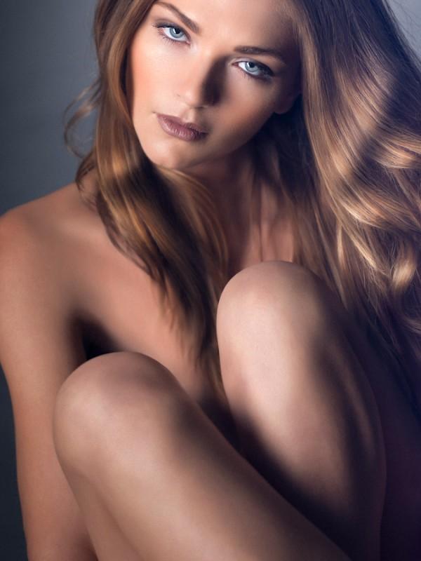 Portraits of international fashion model Vesna Vrankovic. Photographed by Atif AbuSamra.
