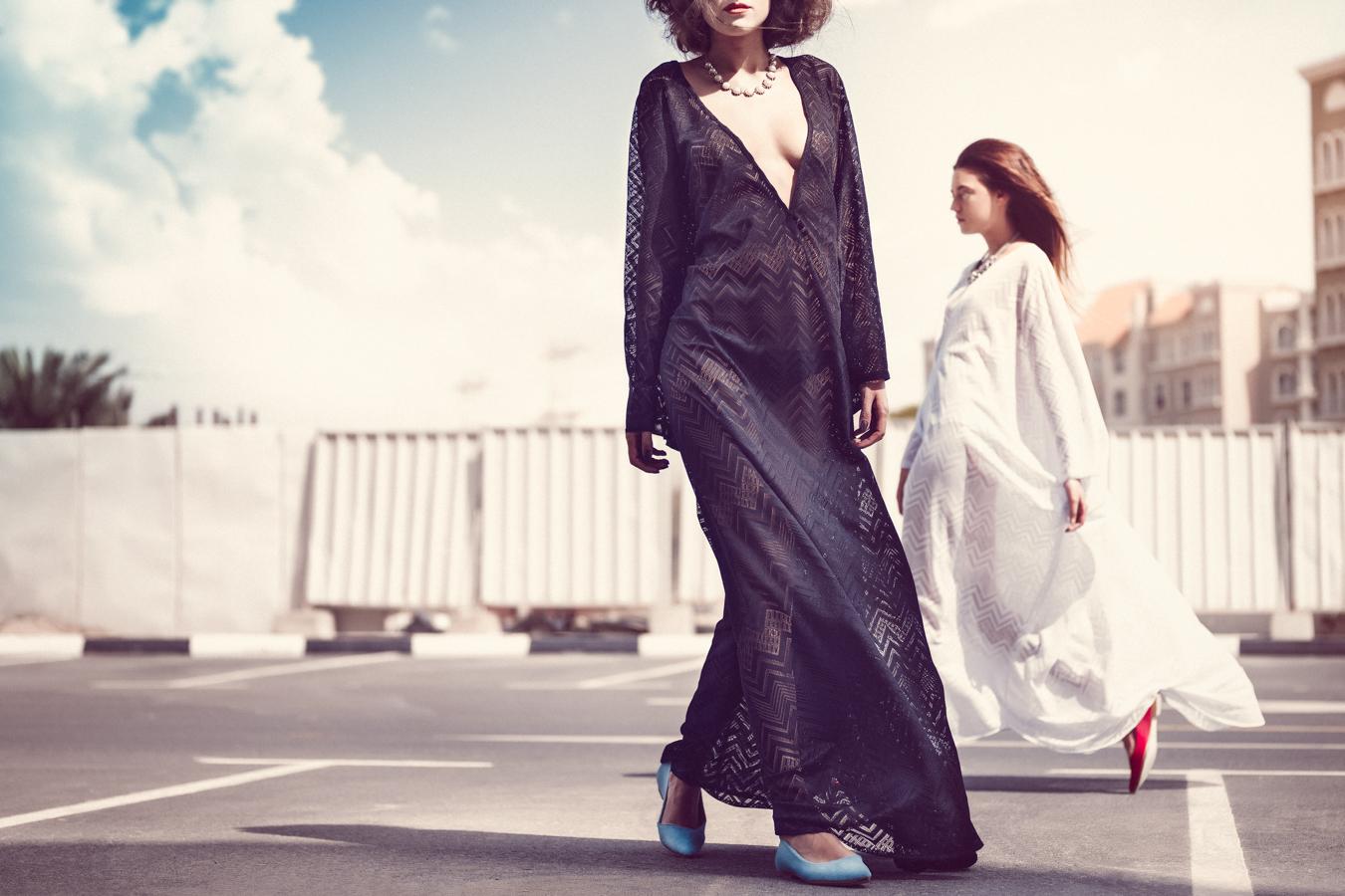 Fashion Photographer: Atif AbuSamra. Photo shoot styled by Ivana Arsenijevic and Andrea Samardzic. Hair style by Kelly Stewart and make up by Marcia Lima. Models: Jovana Mitic and Milana Milojevic.