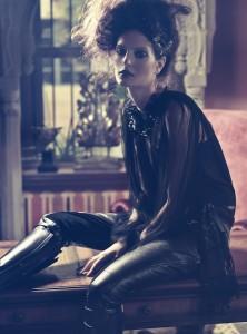 Fashion photographer Atif AbuSamra captures Milica Radmilovic Militza in After Dark. Gucci Winter/Fall 2012. Velvet Magazine.