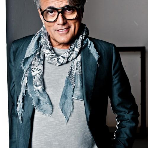 Portrait of Giuseppe Zanotti, Italian shoe designer. Portraits photographer: Atif AbuSamra. Photographed for Velvet Magazine.